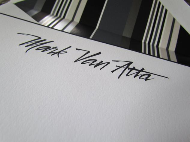 Vectorized Brush lettering 'mark Van Atta'
