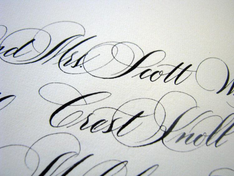 Marlean Tucker's Flourished Script Lettering-addressed Envelope