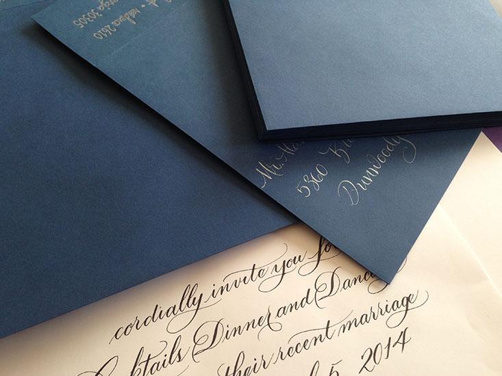 Marlean's Calligraphy-hand addressed Envelopes