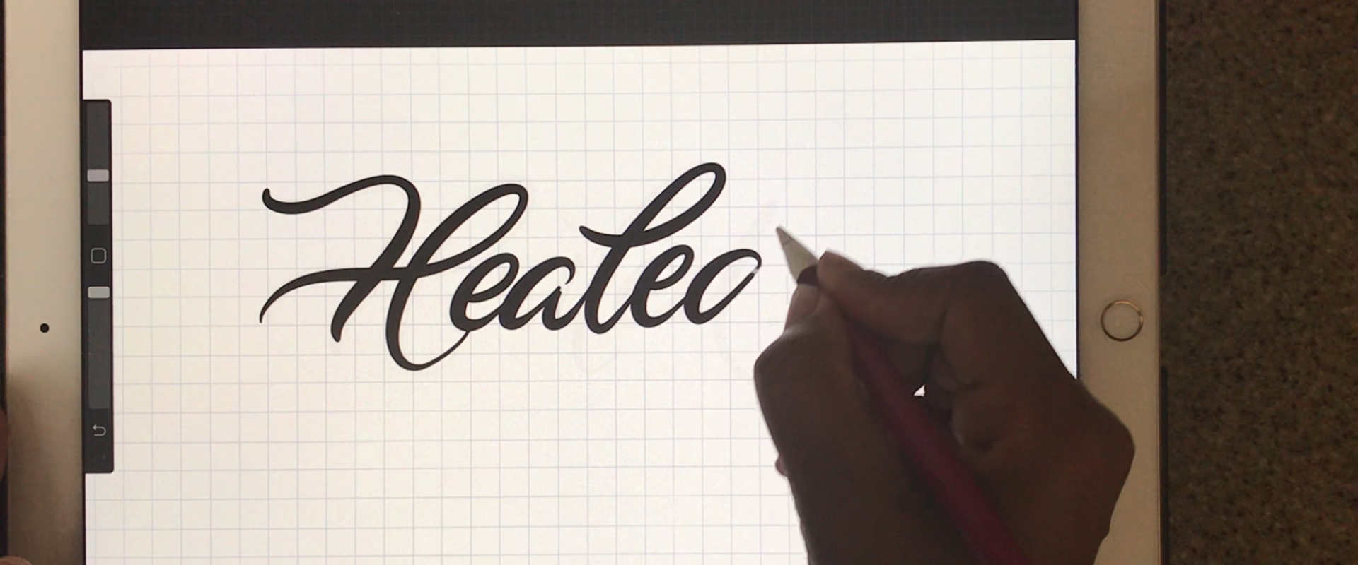 Calligraphy, Procreate and Over App
