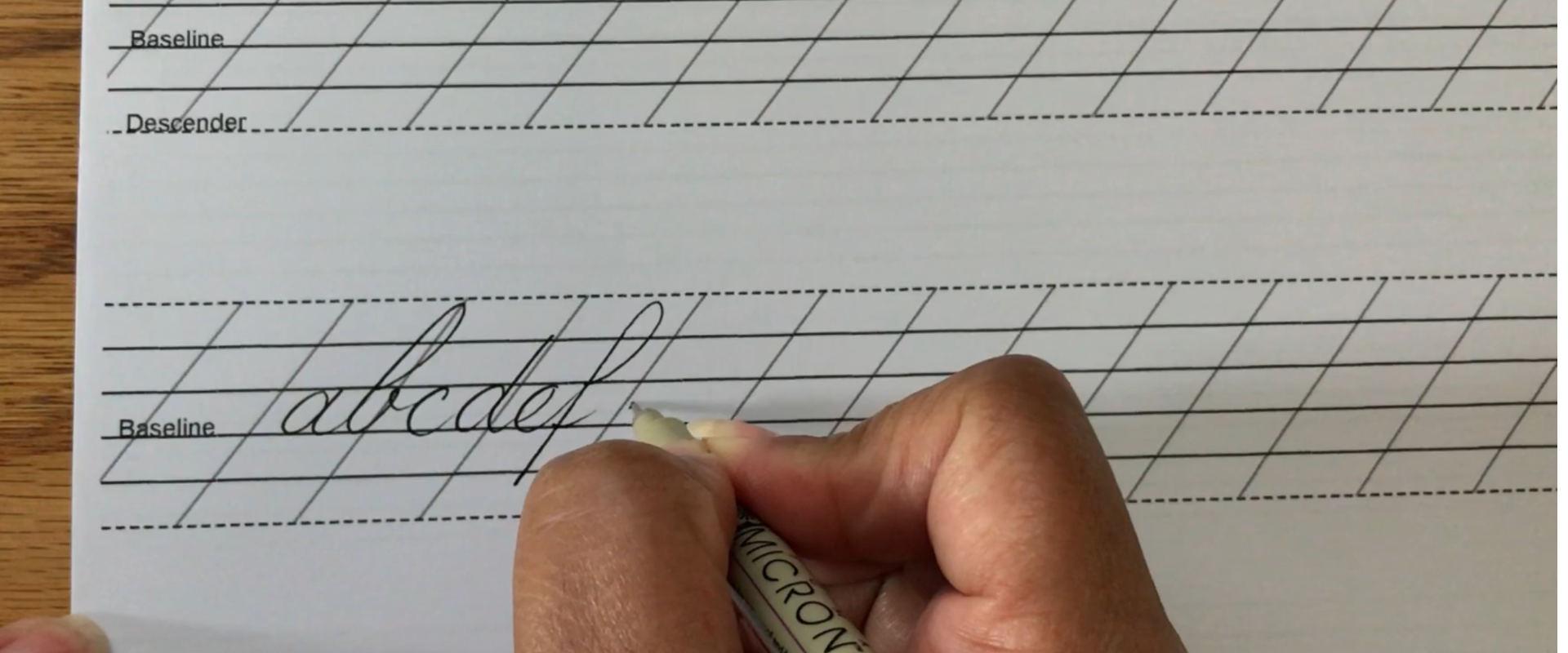 Monoline Lowercase Script Alphabet