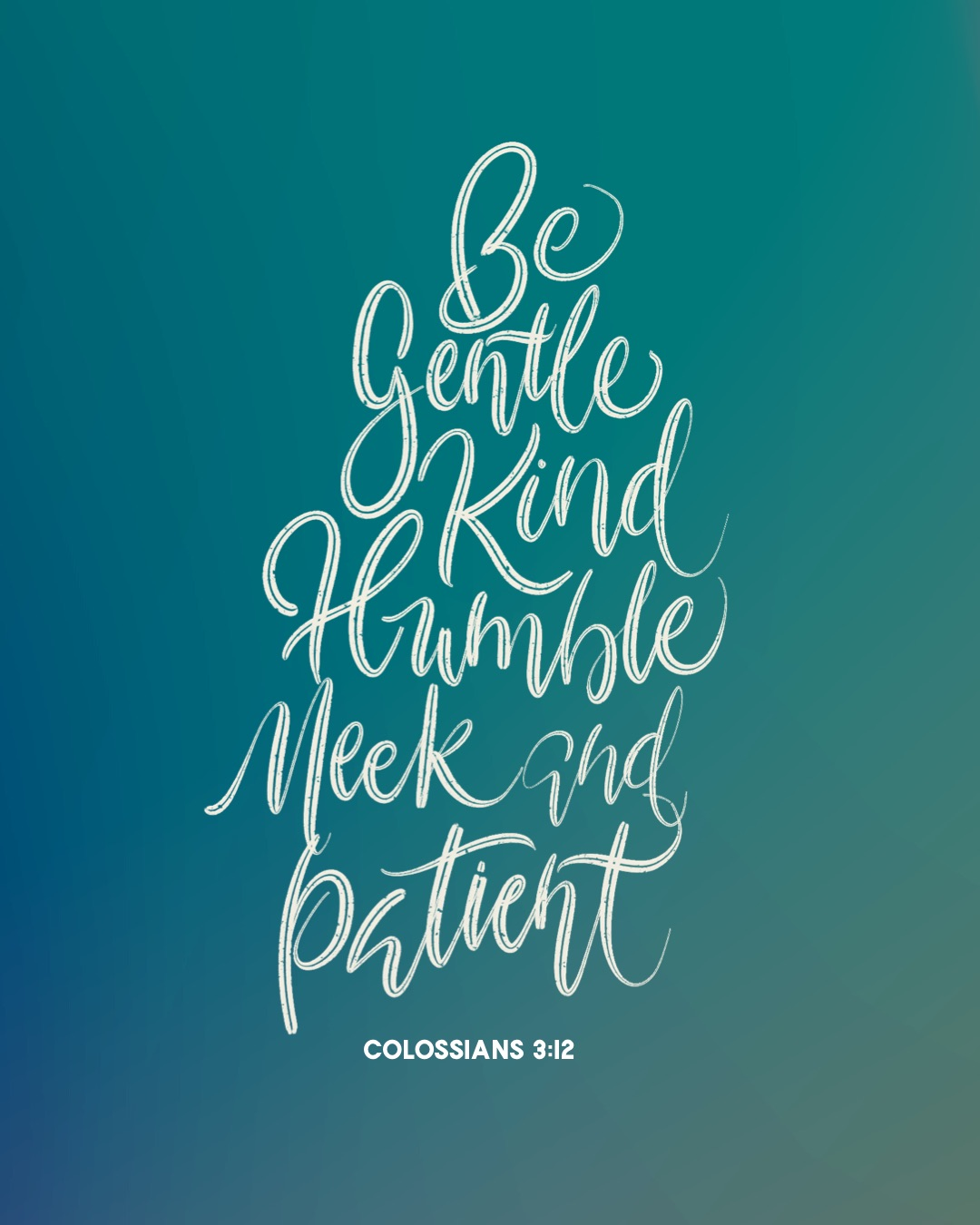 Be gentle and kind Calligraphy