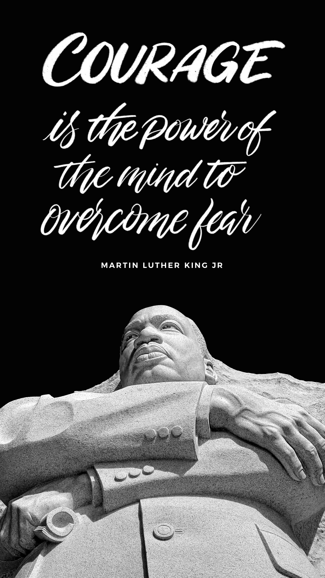 Courage is the power phone wallpaper