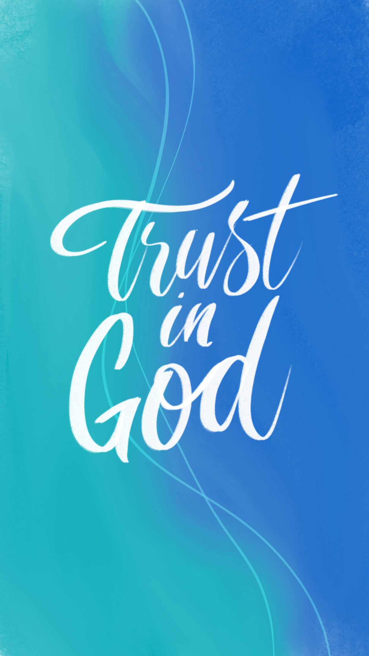 Trust in God phone wallpaper